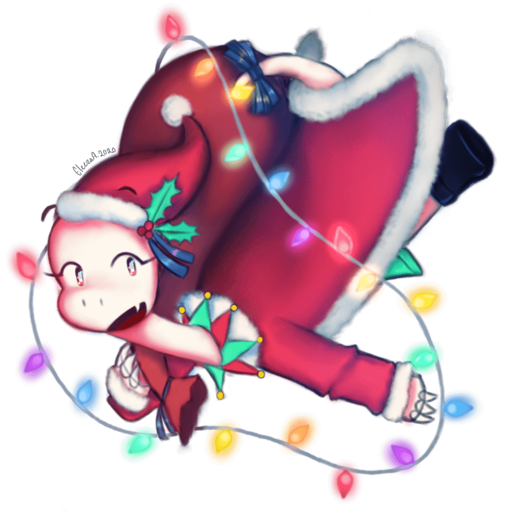 Illustration of a holiday themed Orpheus